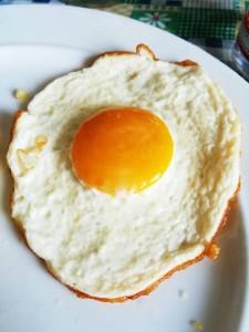 uovo all'occhio di bue illusion